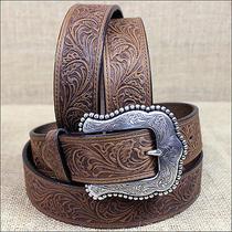 34 Inch Tony Lama Brown Layla Western Leather Ladies Belt Western Cowgirl Show Photo