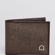 340 Salvatore Ferragamo New Form Wallet Card Case Id Holder Brown Billfold Photo