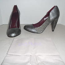 341 Botkier Molly Silver/ Antique Pump Heel Size 9 Photo
