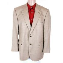 346 Brooks Brothers Men Sport Coat Blazer Wool Silk Linen 2 Button Brown 45 R Photo