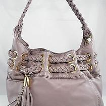 348 Michael Kors Braided Astor Grommet Medium Shoulder Hobo Hand Bag Satchel Photo