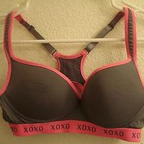 34b Xoxo Grey Pink Sports Bra 34 B Wireless Wirefree Photo