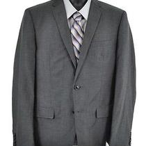 350 Dkny Charcoal Sharkskin Ramie Wool Trendy Blazer Sport Coat 42r Nwt Photo