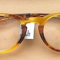 350 Men's Oliver Peoples Eyeglasses Riley 48 21 146 Honey Brown Nwt  Photo
