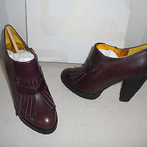 350 Sigerson Morrison Bm6596 Wine-Wine Hasmara-Elbamatt Mules Heel Size 8.5 Photo