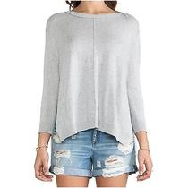 360 Sweater Grey Side Slit Sweater Small Photo