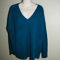 360 Sweater  L Aqua Blue Cashmere Sweater Pullover %100 Cashmere Brand New Tag Photo