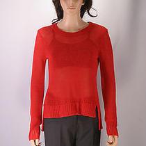 360 Sweater Lighweight Crochet Sweatshirt - 100 % Linen Size S Photo