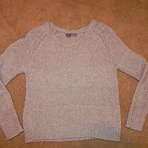 360 Sweater Size M Tan Beige Cotton Wool Acrylic Blend Photo