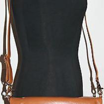 365 Nwt Auth Tory Burch Dena Foldover Messenger Crossbody Bag Brown  Leather Photo