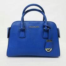 368 Michael Kors Women's Campbell Large Satchel Electric Blue Photo