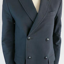 370 a.p.c. Paris Midnight Cotton Double Breasted Blazer Jacket Small Photo