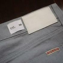 37212 Mens Hudson Straight Fit Stretch Light Gray Denim Jeans Size 38 X 30 Photo
