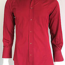 375 Gucci Italy Burgundy Red Dress Shirt 39 15-1/2 Photo