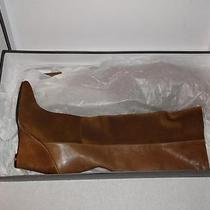375 Seven/7 for All Mankind Tan Waxy Suede/nappa Leather Ora Wedge Boots 8 Photo