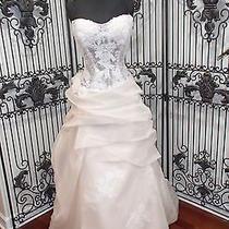 38 Eden Bridals Bl048 Strapless Sz 12  Blush Ball Wedding Gown Dress Photo