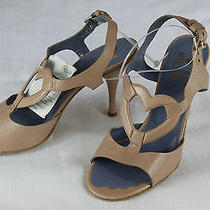 380.00 New With Box Moschino Heels Shoes Pumps Leather Sandals 9 Eur   39 Us Photo