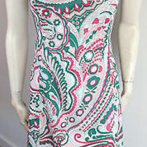 385 Shoshanna Multi-Color Paisley Floral Printed Dress Us 10 Photo