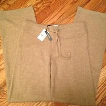 388 Magaschoni 100% Pure Cashmere Lounge Pants Size Small Nwt Beige Photo