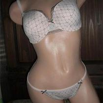 38dd Bra Underwire Large G-String Panty Set Chantelle Graphie Pink 3008 3007 Photo