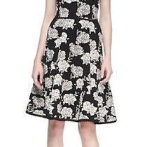 390 Zac Posen Ponte Floralprint Sleeveless Strech Vogue Runway Dress Sz Large Photo