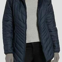 392 the North Face Womens Blue Mossbud Reversible Insulated Parka Jacket Size S Photo