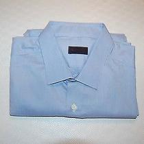 395 Nwot Lanvin Men's Dress Shirt Size 18 - 36/37 Made in Italy Photo