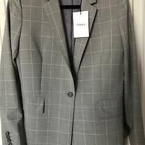 395 Nwt Theory Grey Multi Cyrus Grid J 011113 R Blazer Suit Jacket Sz 6 Photo
