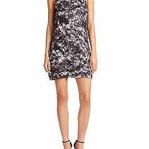 396 Nwt Parker Allegra Applique Silk Wildflower Dress Sz 4 Photo