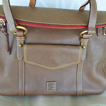 398 Dooney & Bourke Taupe Florentine Leather Smith Bag A222459   Photo