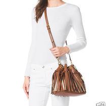 398 Michael Kors Christy Medium Drawstring Messenger Bag Luggage Brown Sun Photo