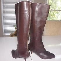 398 New Coach Sz 5.5 Fayth Chestnut Matte Calf Leather Medium Heel Bootsbox Photo