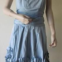 398 Nwot Bcbg Woven Strapless Taffeta Dress Size 8 Photo