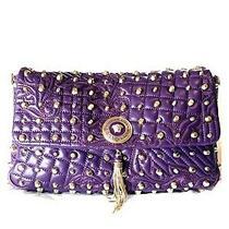3k Versace Vanitas Tassel Medusa Purple Studded Bag. New. Only One on Ebay Photo