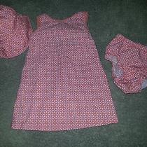 3pc Baby Girls Dressbloomershat Set by Old Navy Size 6-12mos Euc  Photo