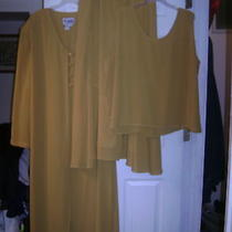 3pc Gold Skirt Set by Christie    Size 24w Photo