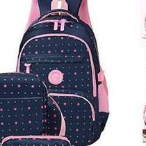 3pcs Star Prints Waterproof Primary School Backpack for Girls Polka Dot Element Photo