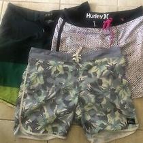 3x Pairs Mens Billabong Hurley Quicksilver Board Shorts  Great Cond  Size 36 Photo