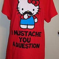 3xl Sanrio Womens Juniors Plus Size Red Hello Kitty Mustache Knit Blouse Top Nwt Photo
