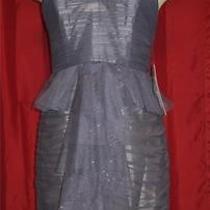 4 6 Jill Stuart Gray Shimmer Tulle Mesh Overlay Strapless Corset Dress Nwt Photo