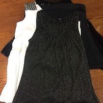 4 Black White Dressy Top Collection Size Large Photo