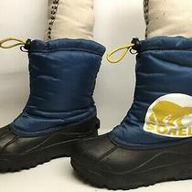 4 Boys Sorel Winter Black Boots Size 4 Photo