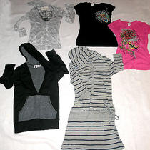 4 Girls Tops 1 Dress/tunic Size S-Vintage Havana-bottlecapps& Others Preowned Photo