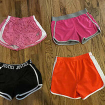 4 Pair Girls Athletic Shorts 8/10 Sketchers/ Justice Photo