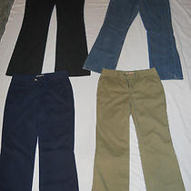 4 Pairs of Nice Clean Dress/ Casual Sz 4 Pants Liz Claiborne Jeans Faded Glory Photo