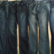 4 Pairs of Women's Jeans (3) Exprss (1) American Eagle Outfitters Sz. 2r  4 Photo