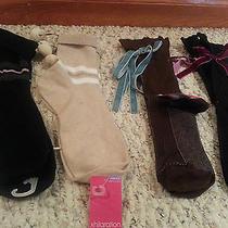 4 Pairs of Women Socks by Xhilaration Crew One Size Cotton Comfort Nwt Free Ship Photo