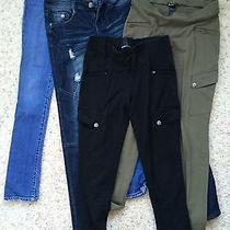 4 Pc Lot Abercrombie Dollhouse Jeans & Express Pants Size  Photo