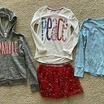 4 Pc Lot of Girl's Sz 12 Clothes Justice Gap Jacket Skirt Shirts Photo