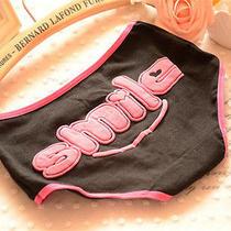 4 Pcs Black Smile Women Briefs Panties Underpants Lingerie Underwear Photo
